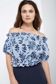 Soprano Tropical Blues Top - Front cropped
