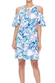Aryeh Tropical Cold-Shoulder Dress - Product Mini Image