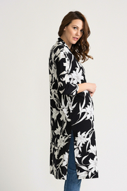 Joseph Ribkoff Tropical Duster Cover-Up, Black/White - Side cropped