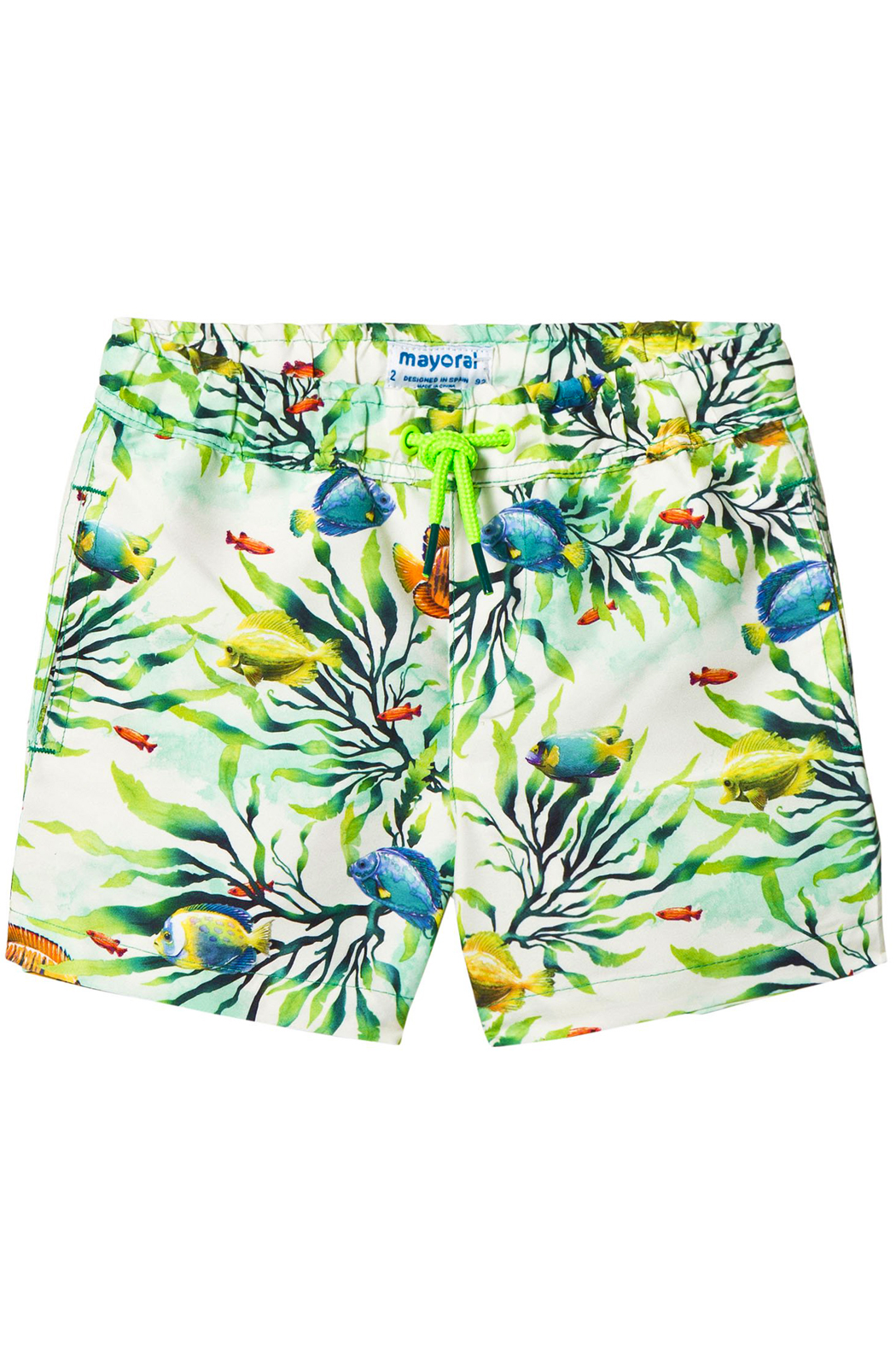 Mayoral Tropical Fish Swim-Trunk - Front Cropped Image