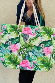 Caroline Hill Tropical Flamingo Bag - Front cropped