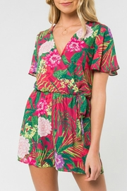 Everly Tropical Floral-Print Romper - Product Mini Image