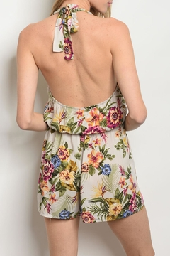 Everly Tropical Floral Romper - Alternate List Image