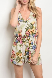 Everly Tropical Floral Romper - Product Mini Image
