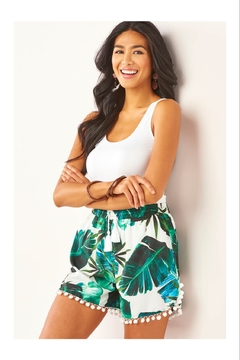 Giftcraft Inc.  Tropical Floral Shorts - Alternate List Image