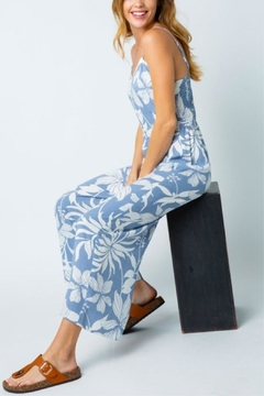 Cozy Casual Tropical Flower Jumpsuit - Alternate List Image