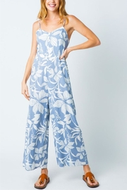 Cozy Casual Tropical Flower Jumpsuit - Front cropped