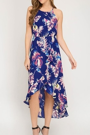 The Vintage Valet Tropical Halter Dress - Product Mini Image