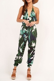 Olivaceous Tropical Halter Jumpsuit - Product Mini Image