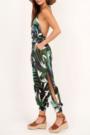 Olivaceous Tropical Halter Jumpsuit - Front full body