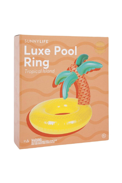 SunnyLife Tropical Island Luxe Pool Ring - Alternate List Image