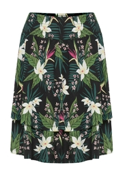 B.young Tropical Layered Skirt - Product Mini Image