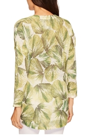 Nally & Millie Tropical Leaf Top - Front full body