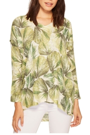 Nally & Millie Tropical Leaf Top - Front cropped