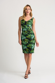 Joseph Ribkoff Tropical Mesh Dress - Product Mini Image