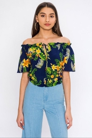 Flying Tomato Tropical Off-Shoulder Top - Product Mini Image