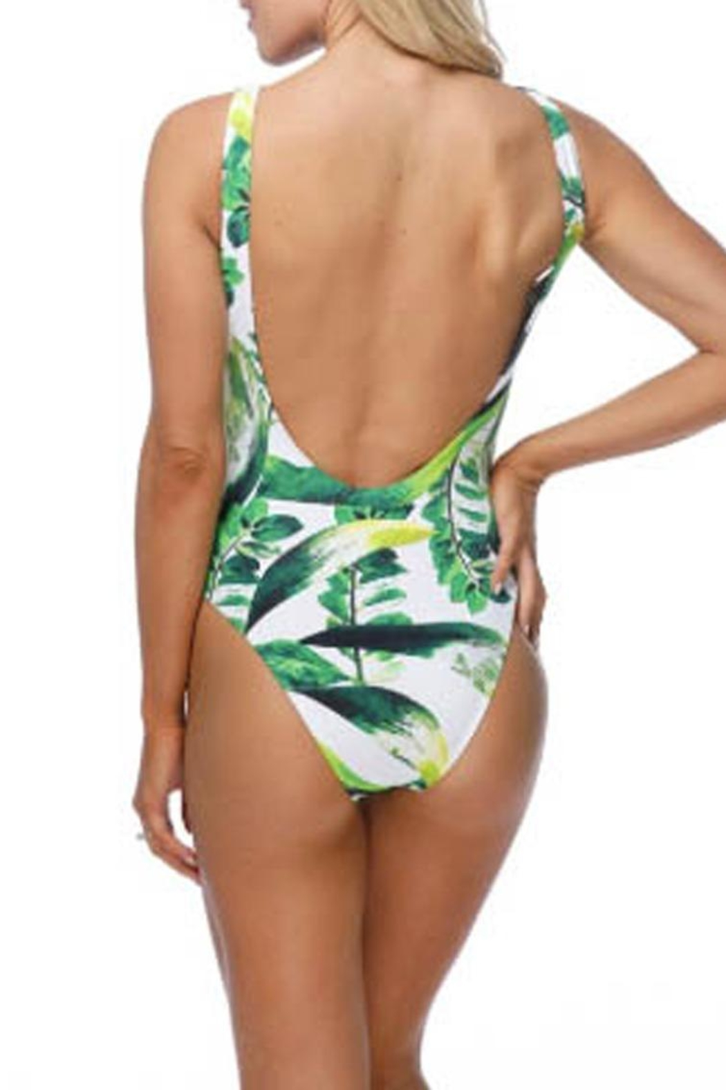 beach joy Tropical One-Piece Suit - Side Cropped Image