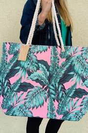 Caroline Hill Tropical Palm Bag - Front cropped