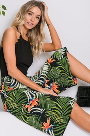 R+D  Tropical Palm Cropped Pant - Front cropped
