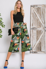 R+D  Tropical Palm Cropped Pant - Front full body