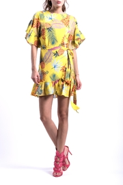 DOLCICIMO Tropical Pineapple Dress - Front cropped