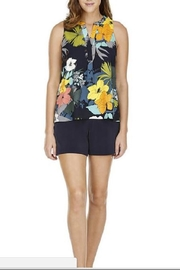 Jade Tropical Placket Top - Product Mini Image