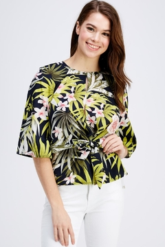Love Encounter Tropical Print Blouse - Product List Image