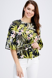 Love Encounter Tropical Print Blouse - Front cropped
