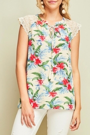 LuLu's Boutique Tropical Print Blouse - Product Mini Image