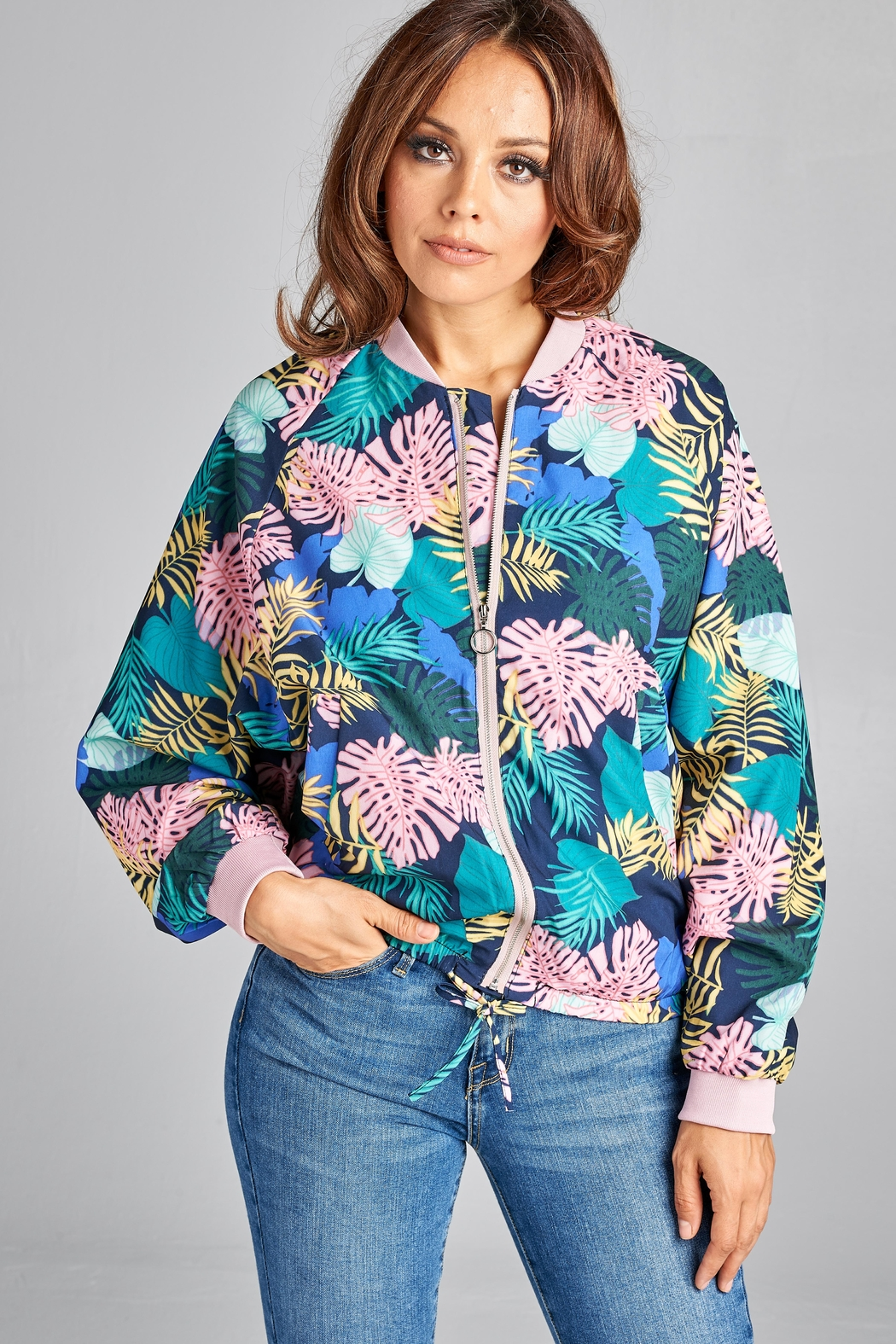 405a6eec0 Racine Tropical-Print Bomber Jacket from California by Racine Love ...