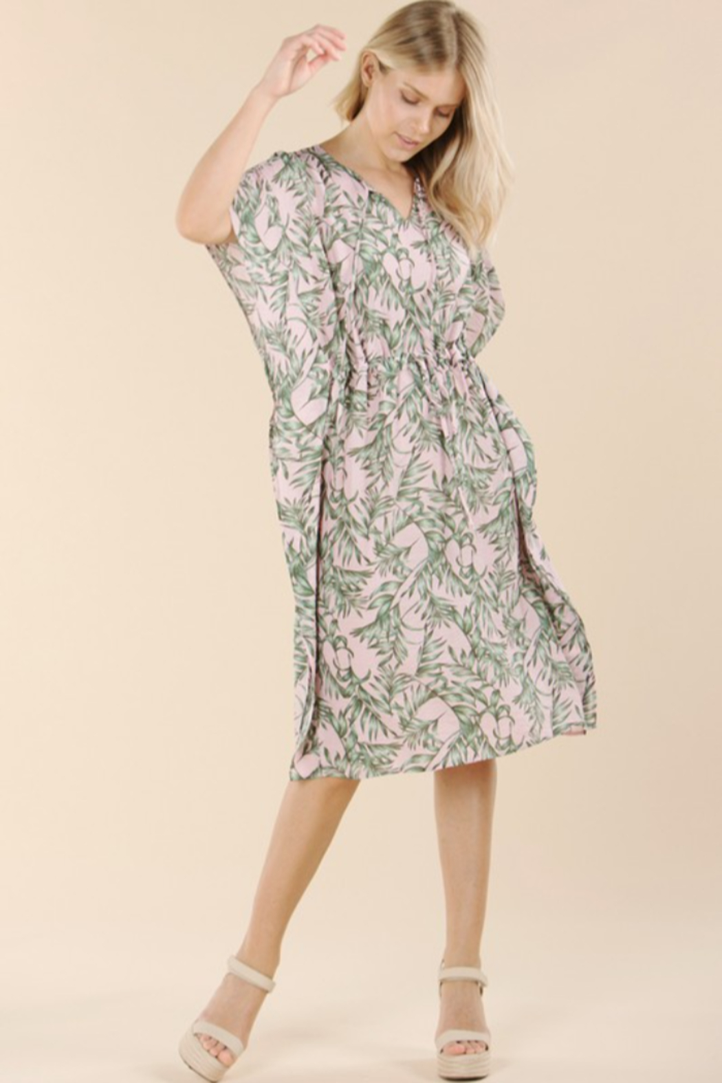 Pinch Tropical Print Coverup - Front Full Image