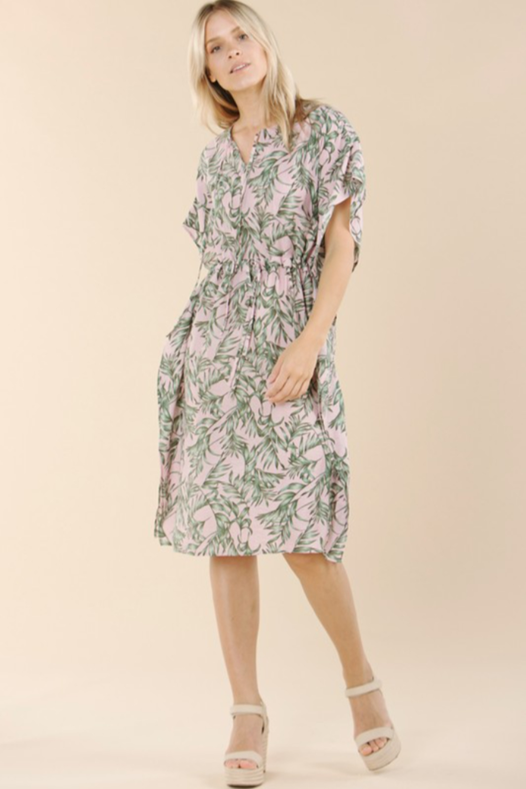 Pinch Tropical Print Coverup - Side Cropped Image
