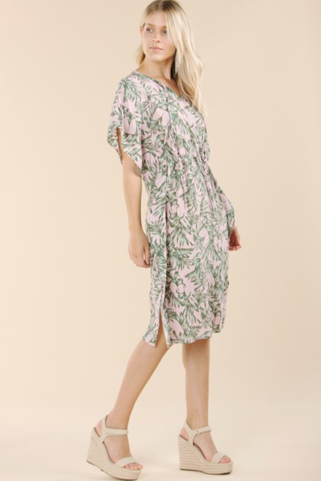 Pinch Tropical Print Coverup - Back Cropped Image