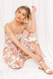 Gilli  Tropical Print Cropped Jumpsuit - Product Mini Image