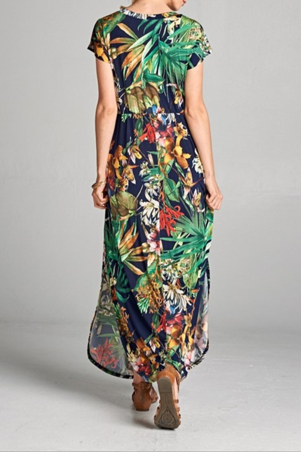 Hailey & Co Tropical Print Dress - Front Full Image