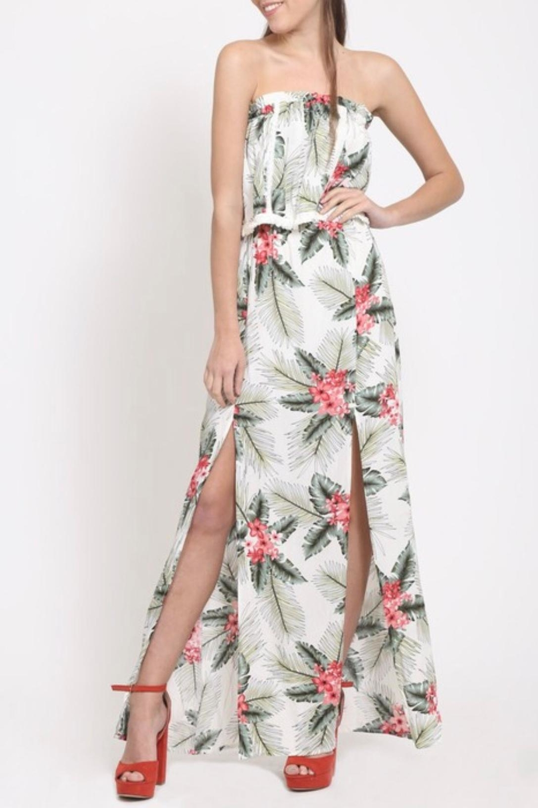 LoveRiche Tropical Print Dress - Front Full Image