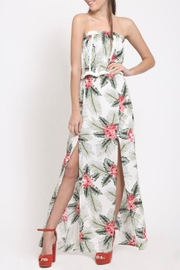 LoveRiche Tropical Print Dress - Front full body