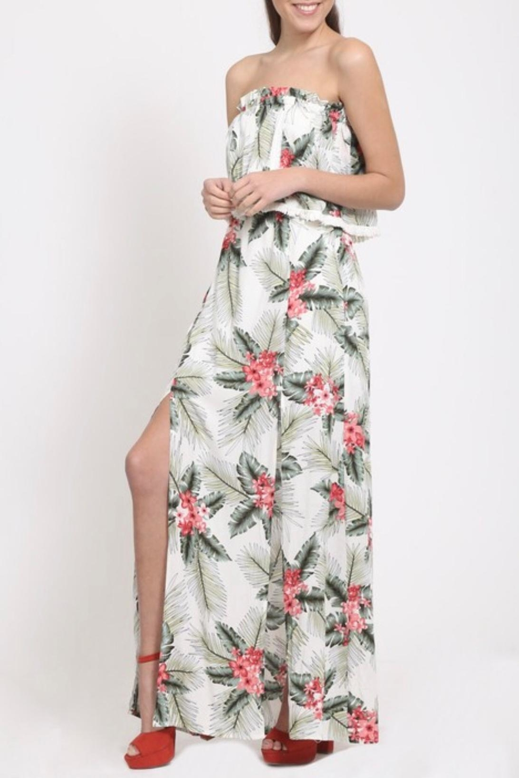 LoveRiche Tropical Print Dress - Main Image