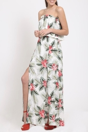 LoveRiche Tropical Print Dress - Front cropped