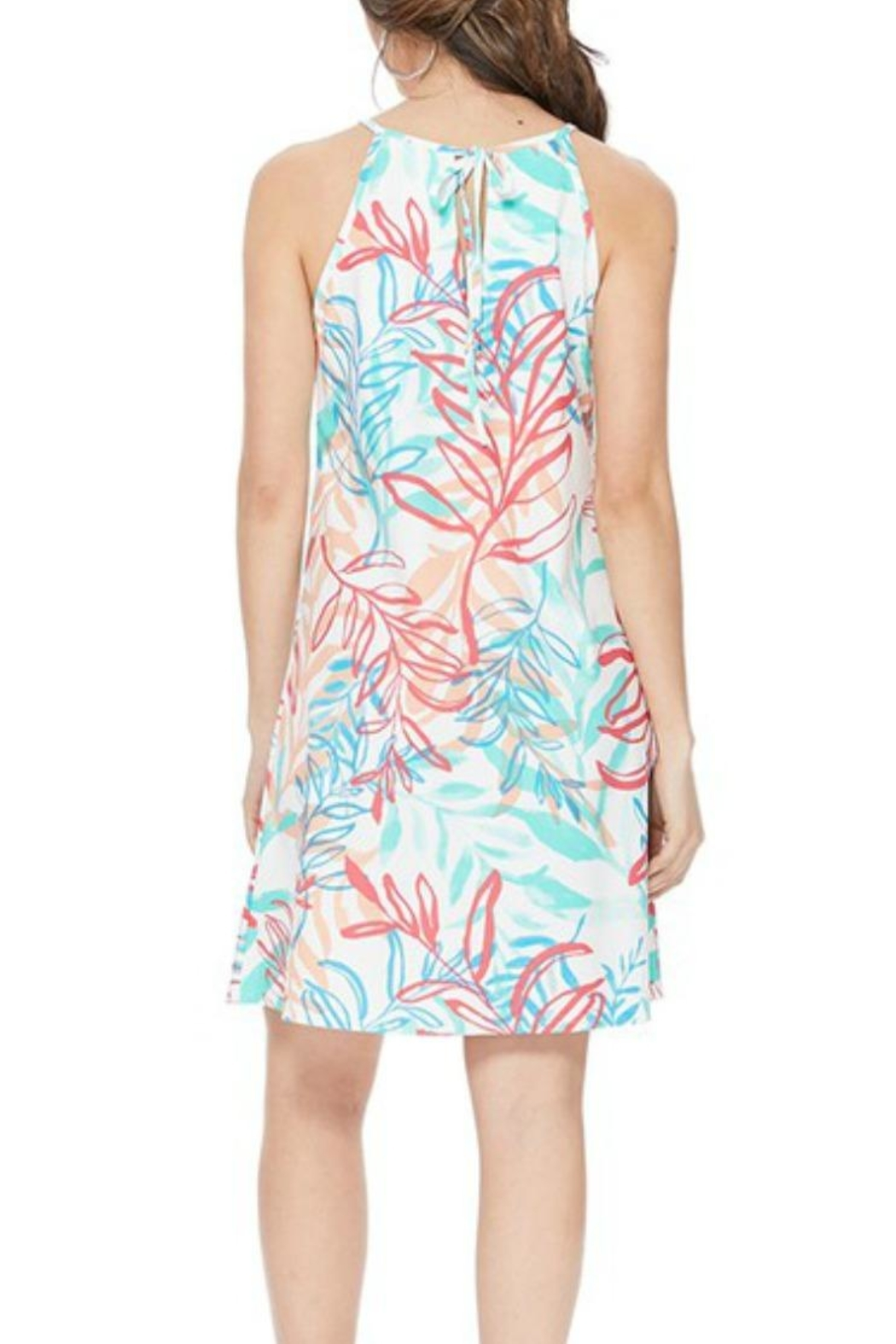 Aryeh Tropical-Print Halter Dress - Side Cropped Image
