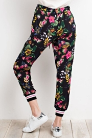 easel Tropical Print Joggers - Front full body