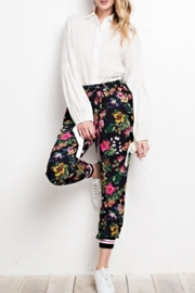 easel Tropical Print Joggers - Product Mini Image