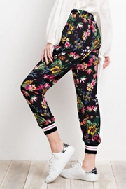 easel Tropical Print Joggers - Side cropped