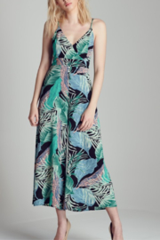 blue blush Tropical Print Jumpsuit - Product Mini Image