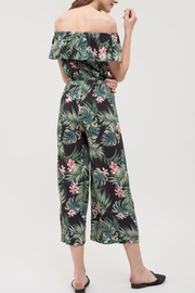Blu Pepper Tropical Print Jumpsuit - Back cropped