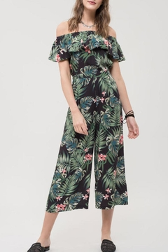 Shoptiques Product: Tropical Print Jumpsuit