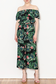 Blu Pepper Tropical Print Jumpsuit - Product Mini Image