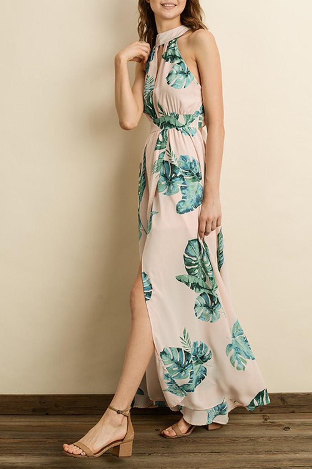 dress forum Tropical Print Maxi - Back Cropped Image
