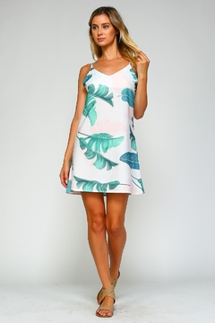 Racine Tropical Print Mini-Dress - Alternate List Image