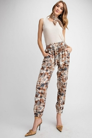 easel Tropical Print Pant - Product Mini Image